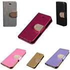 Fashion Bling Flip Magnetic Wallet Leather Card Case Cover For iphone 5 5S