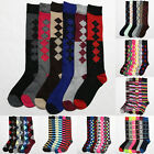 6 Pairs Lot Women's Assorted Print Knee High Socks Fashion Winter Size 9-11 New