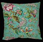 LF338a Fuschia Pink Brown Yellow Turquoise Cotton Canvas Cushion Cover/PillowCas