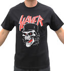 Slayer Skull Helmet Thrash Metal Band Graphic T-Shirt image