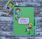 Football Personalised Notebook Children's Girl's Boy's Gift Idea Various Sizes