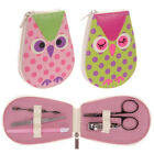One Girls or Ladies Owl Manicure Set Gifts Tweezers Nail Scissors Clippers