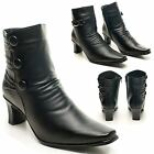 NEW WOMENS CHELSEA POINTED TOE BOOTS CHAIN DETAIL WINTER FASHION SHOES UK SIZE