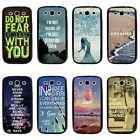Inspirational Life Quote TPU Bumper Hard case For Samsung Galaxys3 s4 s5 note3 4