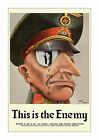 This is the Enemy #1 - Reproduction US World War 2 Propaganda Poster WWII