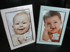 Внешний вид - BABY BOY GIRL PICTURE FRAME light pink blue 4x6 Keepsake Nursery Decor Announcem