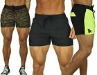 Men's BODYBUILDING RUNNING SHORTS GYM TRAINING POCKETS WITH ZIPPER