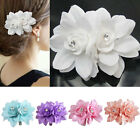 Fashion Lady Womens Girl flower hair clips Pins Bridal Wedding Prom Party Gift