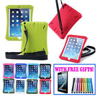 Shockproof Silicone Shoulder Strap Tough Heavy Duty Case cover for iPad Air Mini