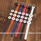 Snap Charm Genuine Leather Belt 3 Buckle Bracelet Bangle Fit Popper Button DIY