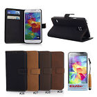 Retro Pu Leather Wallet Flip Stand Case Cover Skin For Samsung Galaxy S5 V i9600