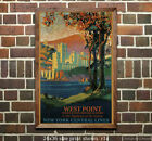NY Central - West Point #1 - Vintage Railroad Travel Poster