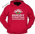 RUGBY WORLD CUP 2015 - God created rugby- custom printed hoodie -Wales hoody