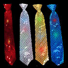 Light-Up Neck Tie Sequins Flashing Blinking Sparkling Party Favors