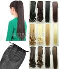 55cm New Style Wrap Round Clip In Pony Tail Hair Extension Hairpiece FKS