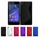 2 X NEW SONY XPERIA Z1 L39H GEL CASE + FREE SCREEN PROTECTOR