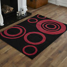 NEW BLACK RED HALO PATTERN SMALL MEDIUM LARGE X LARGE CHEAP SOFT RUGS