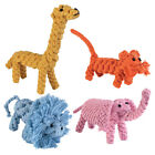 Zanies Rope Tug Menagerie Dog Toys Jungle Animal Toy Giraffe Elephant Tiger Lion