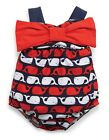 Mud Pie Boathouse Baby Whale Swimsuit Baby Girls 3M-3T #1122110 NWT