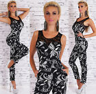 Sexy Women's Party Jumpsuit Summer Lace Overall Black-white Catsuit Size 8,10,12