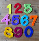 "1 - Felt Die Cuts - Set of Numbers 1 to 10 -  2"" (5cm) - Applique - Birthday"