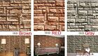 Stone Brick Tile Grain Pattern Vinyl Wall Paper Film, no adhesive #N61