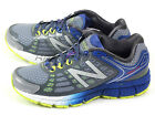 New Balance M1260GY4 2E Grey & Silver & Blue & Lime Stability Running Shoes NB