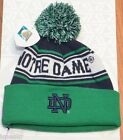 NOTRE DAME FIGHTING IRISH GREEN WHITE BLUE KNIT BEANIE TOP OF THE WORLD