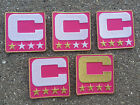 PINK Captain C Patch for Jersey Football Soccer Baseball Hockey Lacrosse