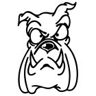 BULLDOG BULL DOG PUPPY ANIMAL POW HAND FRIEND VINYL DECAL STICKER (BD-02)