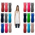 LADIES RACER BACK MUSCLE VEST STRETCH BODYCON VEST TOP WOMENS GYM SPORT VEST TOP