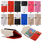 Zip Leather Wallet Flip Stand Case Cover Protector For Samsung Galaxy S5 i9600