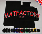 BMW 5 SERIES 4DR SAL/TOUR E60 03-04 black tailored car mats B90 COLOURED BINDING