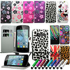 Floral Flower Flip Wallet Leather Case Cover Book For Alcatel One Touch Pop C1