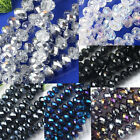 8x12mm Faceted Rondelle Crystal Glass Loose Beads Jewelry Making Findings DIY