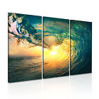 NATURE Wave Canvas Seascape Framed Printed Wall Art 5 ~ 3 Panels