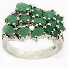 .925 Sterling Silver 1.52 carat Ct Emerald Ring
