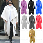 LADIES KIM WATERFALL FALLAWAY TRENCH CAPE DRAPED BELT COAT JACKET CARDIGAN UK