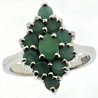 .925 Sterling Silver 1.32 Ct Emerald Ring