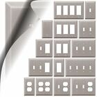 Wall Switch Plate Cover Century Brushed Nickel Outlet Toggle Decora Rocker Metal