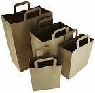 BROWN PAPER CARRIER SHOPPING BAGS HANDLE ☆ MULTILISTING XL LARGE MEDIUM SMALL