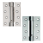 3 x Fire Rated Door Hinges Self Closing Single Action Adjustable Spring Chrome