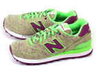 New Balance WL574GGP B Light Green & Purple & White Retro Classic Casual 2015 NB
