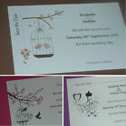 20 + Personalised Wedding Save the Date Cards with envelopes