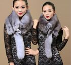 Fashion full body with fox head genuine fox fur winter warm scarf /wraps hot