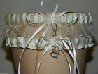 Ivory Organza Garter Set Wedding Prom INCLUDES Tossing Garter & Charm