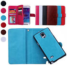 Magnetic PU Leather Flip Wallet Card Purse Case Cover for Samsung Galaxy Note 4