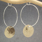 Handcrafted Earrings Hammered Hoops Hammered Discs 14K Gold Filled 14K Rose GF