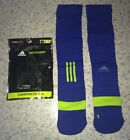 NEW Mens S ADIDAS Roy Blue Lime Muscle Recovery Compression Climacool OTC Socks