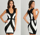 Hot Women's Sexy Slim Fit Cocktail Bodycon Bandage Pencil Clubwear Evening Dress